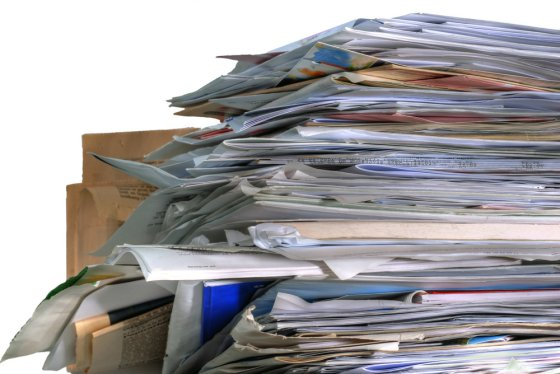 New Year's Resolutions: Organize those piles of papers
