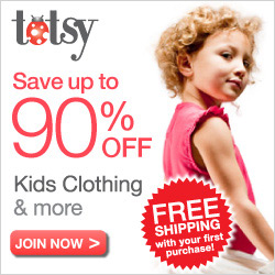 It's Totsy Time! You're invited to save 90% off retail