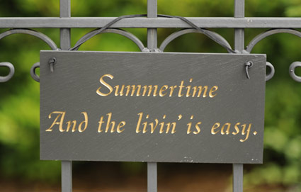 Summertime to me is…