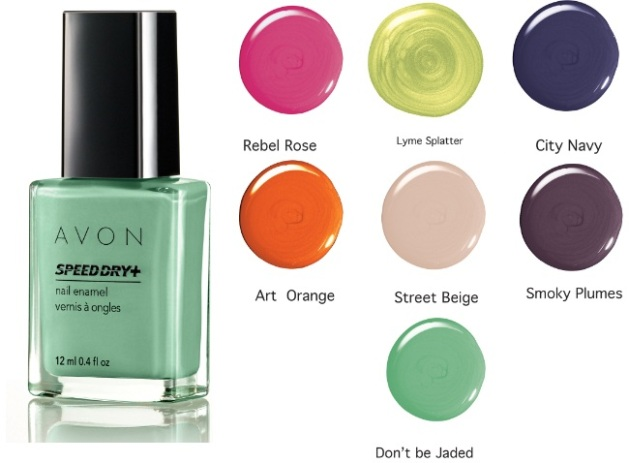 Avon Speed Dry+ Nail Enamel Urban Rush Shades