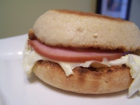 McDonald's Egg White Delight McMuffin a.k.a. Mommy Guilt-FreeMorning