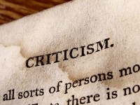Sunday's Food for the Soul: Stop Criticizing and begin Healing