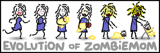 Evolution of a zombi mom