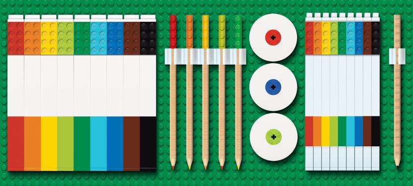LEGO + Stationery= BoredomBuster