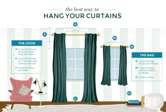 hang curtains