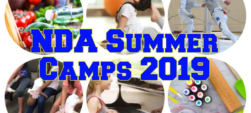 NDA Summer Camps 2019 (Early Bird Registration)