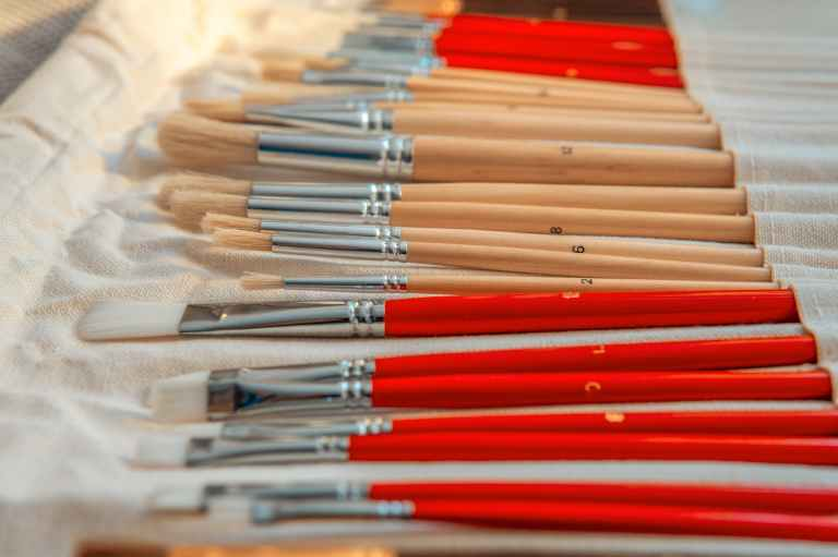 photo of paintbrushes